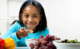 kids eat healthy and well