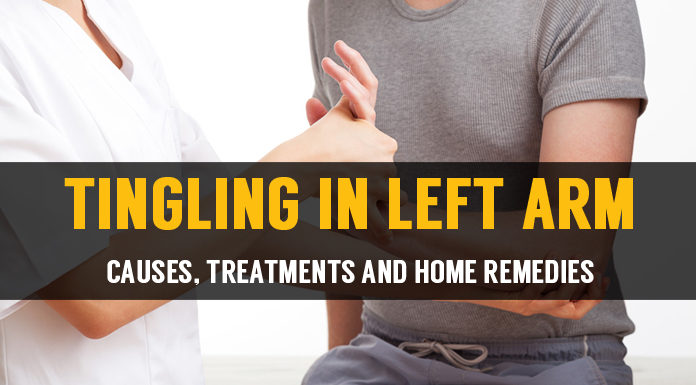 tingling in left arm causes treatments and home remedies