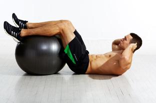 Ball Crunch Exercise