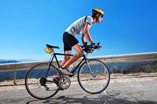 Men Bicycling