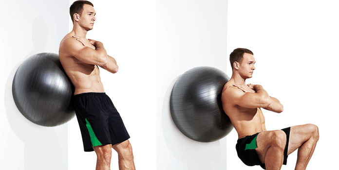 Squat Towards The Wall Exercise