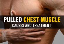 causes and treatment for pulled chest muscle