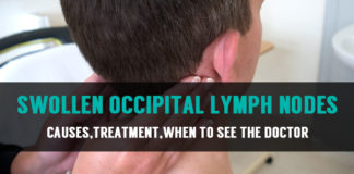 causes treatment of swollen occipital lymph nodes