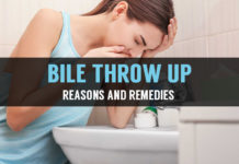 causes and treatments of throwing up bile