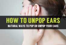 how to unpop ears in natural ways